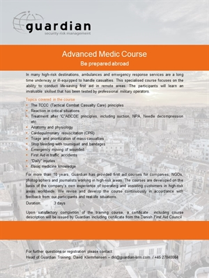 Advanced Medic Course